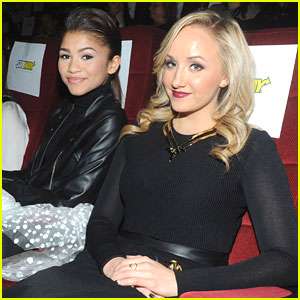 Zendaya & Nastia Liukin: 'The Hunger Games: Catching Fire' Subway Screening
