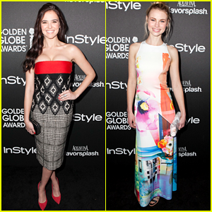 Zoey Deutch: Golden Globes 2014 Pre-Party with Lucy Fry!