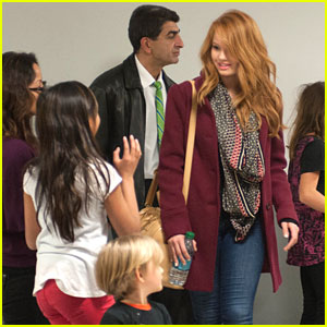 Debby Ryan Meets Fans After Thanksgiving Day Parade