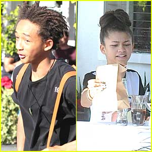 Zendaya & Jaden Smith: Side-By-Side Tables at Fred Segal