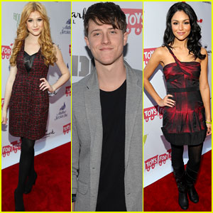 Katherine McNamara & Shane Harper: 'Happyland' at Hollywood Christmas Parade 2013
