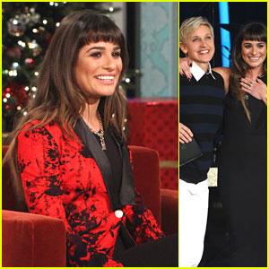 Lea Michele Talks 'Louder' on 'Ellen'