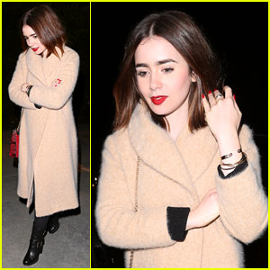Lily Collins: Holiday Party Pretty!