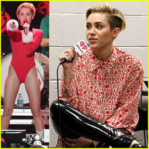 Miley Cyrus: Santa Body Suit at Atlanta Jingle Ball