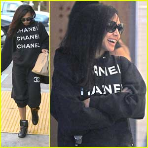 Naya Rivera: Chanel Sweats at Chipolte