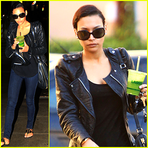 Naya Rivera: Pamper Session after 'Glee' Shoot with Heather Morris