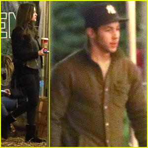 Nick Jonas & Olivia Culpo: Christmas Tree Shopping!