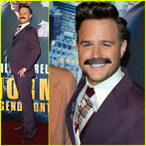 Olly Murs Sports Mustache at 'Anchorman 2' Premiere