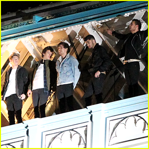One Direction Film 'Midnight Memories' Video on London's Famed Tower Bridge!