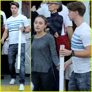 Patrick Schwarzenegger & Taylor Burns: Holiday Shopping Couple