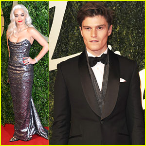 Rita Ora & Oliver Cheshire: British Fashion Awards 2013