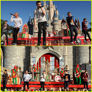 The Wanted: 'Santa Claus is Coming To Town' at Disney Christmas Parade - Watch Now!