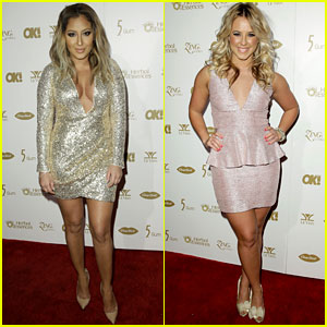 Adrienne Bailon & Chelsie Hightower: Pre-Grammys Party Pics