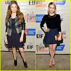 Anna Kendrick & Emma Roberts: Hollywood Stands Up To Cancer Event