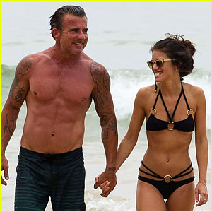 AnnaLynne McCord & Dominic Purcell Hold Hands at the Beach!