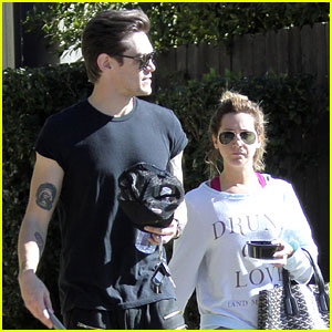 Ashley Tisdale & Christopher French: Mid-Week Workout in WeHo!