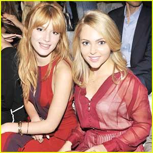 Bella Thorne & AnnaSophia Robb: Walking In Red Dress Fashion Show at NYFW! (Exclusive!)