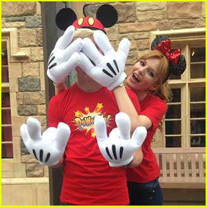 Bella Thorne & Ross Lynch: Danimals Commercial Shoot at Disneyland (Exclusive Pics)!