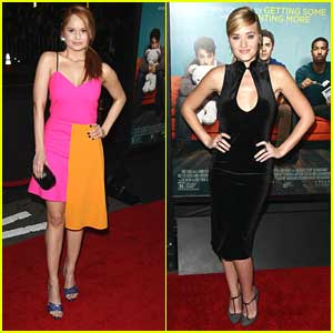 Debby Ryan & AJ Michalka: 'That Awkward Moment' Premiere Pretty