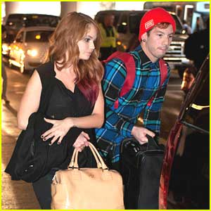 Debby Ryan & Joshua Dun: New Year Arrival at LAX
