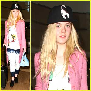 Elle Fanning: Back in LA After Sundance Weekend