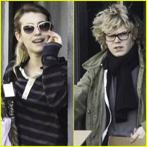 Emma Roberts & Evan Peters Step Out Together