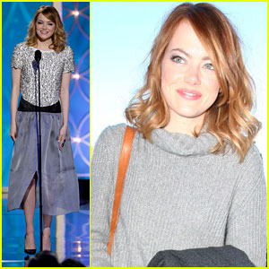 Emma Stone Hits Lax After Golden Globes 2014 2014 Golden Globe Awards Emma Stone Just Jared Jr