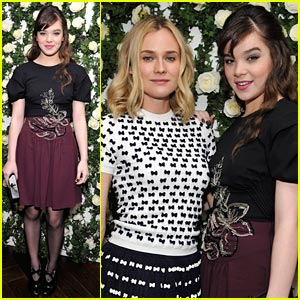 Hailee Steinfeld: Pre-Golden Globes Luncheon with Diane Kruger!