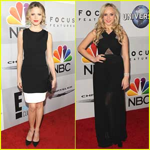 Halston Sage & Nastia Liukin: NBC's Golden Globe After Party People!
