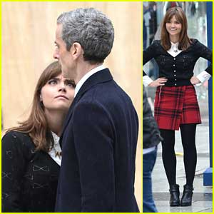 Jenna Coleman: 'Doctor Who' Filming in Cardiff