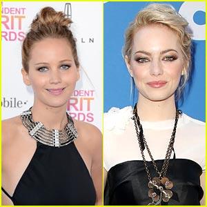 Jennifer Lawrence & Emma Stone: Golden Globes 2014 Presenters!