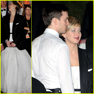 Jennifer Lawrence Warms Up with Nicholas Hoult's Jacket After the Golden Globes!