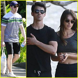 Joe Jonas & Blanda Eggenschwiler: Romantic Beach Stroll in Hawaii