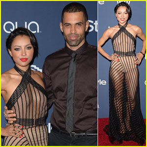 Kat Graham & Cottrell Guidry: Golden Globes 2014 Party Couple!