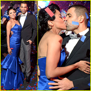 Kat Graham Kisses Fiance Cottrell Guidry on New Year's Eve!
