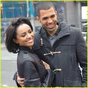 Kat Graham & Cottrell Guidry Visit Nasdaq on New Year's Eve