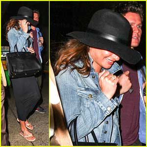 Lea Michele: LAX Arrival After Mexico Holiday