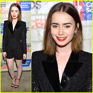 Lily Collins: Hollywood Stands Up To Cancer Event