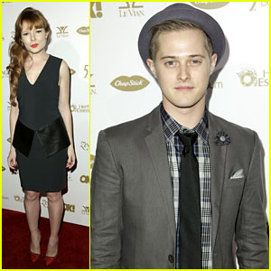 Lucas Grabeel & Stef Dawson: OK Magazine's Pre-Grammys Party