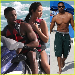 Michael B. Jordan: Shirtless Jet Skiing with Mystery Girl!