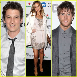 Miles Teller & Arielle Kebbel: Warner Music Group Grammys After-Party 2014