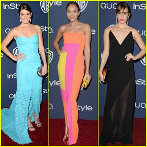 Nikki Reed & Ashley Madekwe: InStyle Golden Globes 2014 Party!
