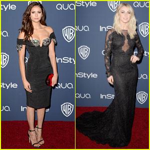 Nina Dobrev & Julianne Hough: InStyle Golden Globes 2014 After-Party