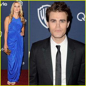Paul Wesley & Claire Holt: InStyle Golden Globes 2014 After-Party