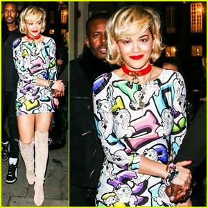Rita Ora Gets Colorful in London