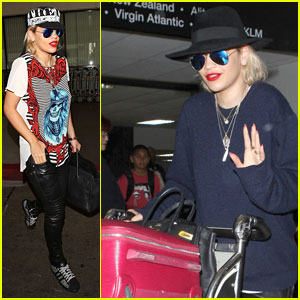 Rita Ora: Outfit Switch at LAX Airport!
