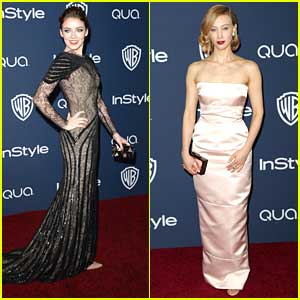 Sarah Bolger & Sarah Gadon: InStyle Golden Globe Party Pair