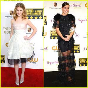 Sophie Nélisse & Adele Exarcholpoulos - Critics Choice Movie Awards 2014