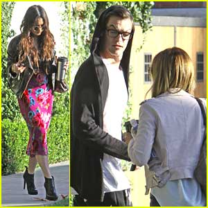 Vanessa Hudgens Stops By Ashley Tisdale's Home