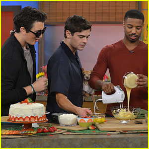 Zac Efron: 'Despierta Am�rica' with Michael B. Jordan!